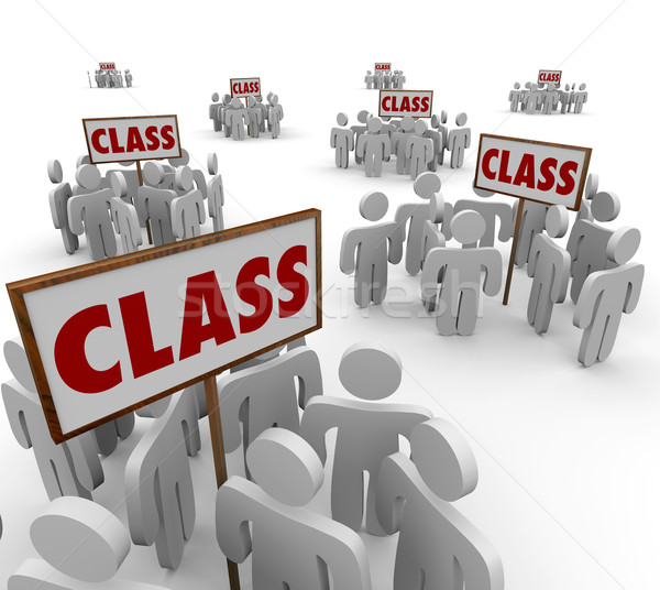 Class Signs Groups People School Students Legal Action Lawsuit Stock photo © iqoncept