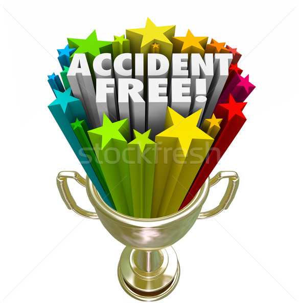 Stock photo: Accident Free Best Safety Record Trophy Prize Award