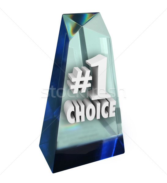Number One 1 Choice Award Top Rated Favorite Review Prize Stock photo © iqoncept