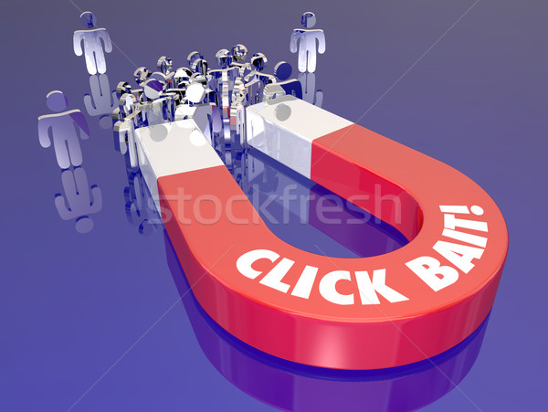 Click Bait Attracting Readers Audience Traffic Website Stock photo © iqoncept