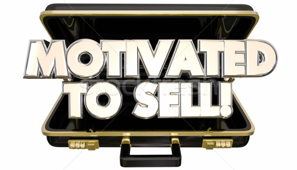 Motivated to Sell Sales Person Briefcase Attitude Ambition 3d Wo Stock photo © iqoncept