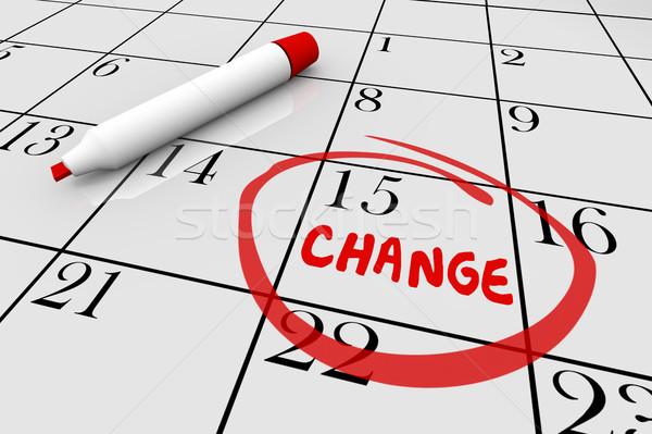 Stock photo: Change Day Date Major Shift Different Plan Calendar 3d Illustrat