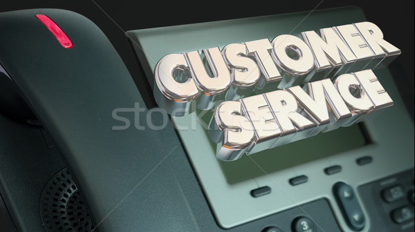 Customer Service Support Call Telephone Words 3d Illustration Stock photo © iqoncept