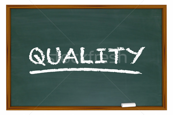 Quality High Best Product Top Service Chalk Board Word 3d Illust Stock photo © iqoncept