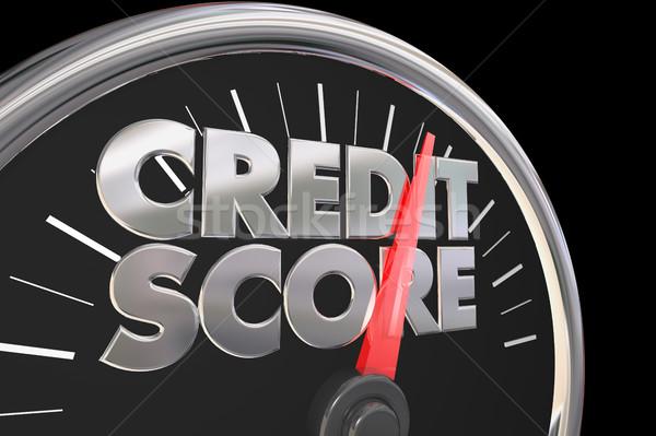 кредитных счет спидометр лучше числа Сток-фото © iqoncept