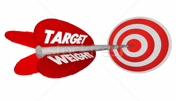 Target Weight Lose Pounds Goal Arrow Bulls Eye 3d Illustration Stock photo © iqoncept