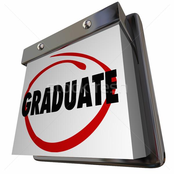 Student Graduate School Education Graduation Calendar 3d Illustr Stock photo © iqoncept