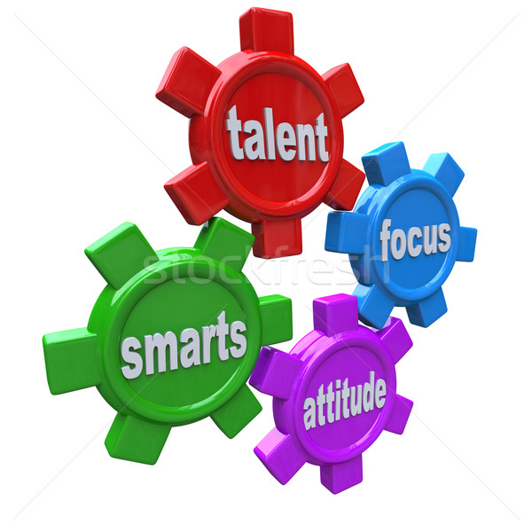 Traits of a Winner - Successful Qualities Skills Talent Attitude Stock photo © iqoncept