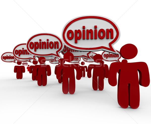 Stock photo: Many People Sharing Opinions Critics Talking Word Opinion
