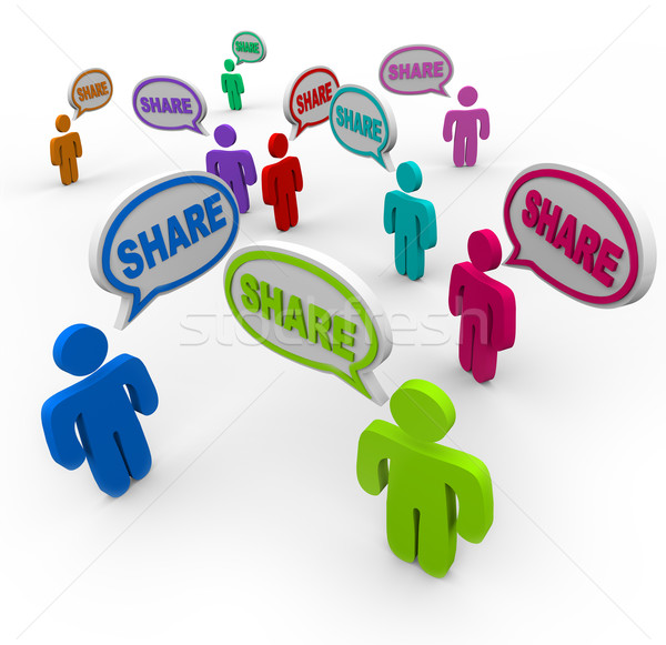 Share Speech Bubbles People Giving Sharing Comments Stock photo © iqoncept