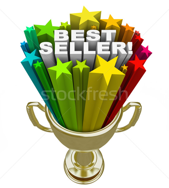 Best Seller Trophy Top Sales Item Salesperson Stock photo © iqoncept