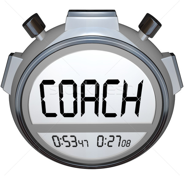 Coach Stopwatch Timer Train Skills for Achieving Success Stock photo © iqoncept