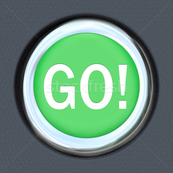Go Car Start Green Button Word Move Forward Stock photo © iqoncept