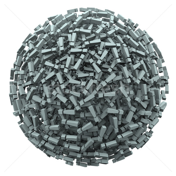 Exclamation Point Mark Sphere Outraged Anger Complaint Stock photo © iqoncept