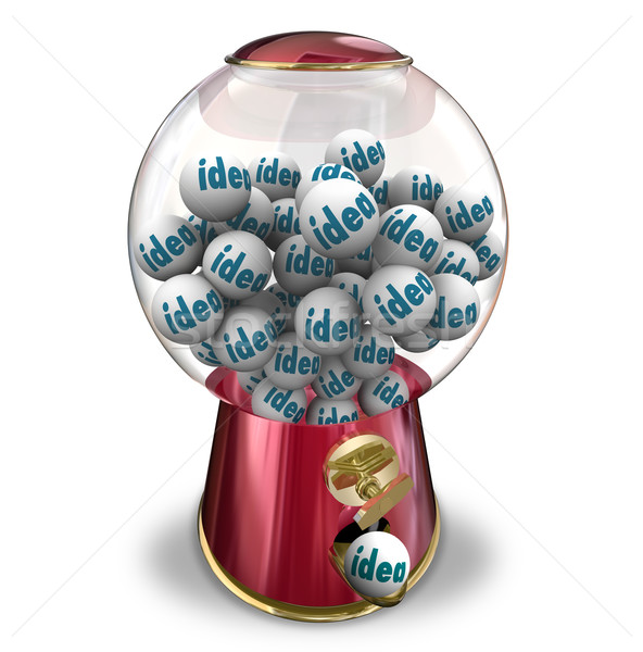 Ideas Gumball Machine Many Thoughts Imagination Creativity Stock photo © iqoncept