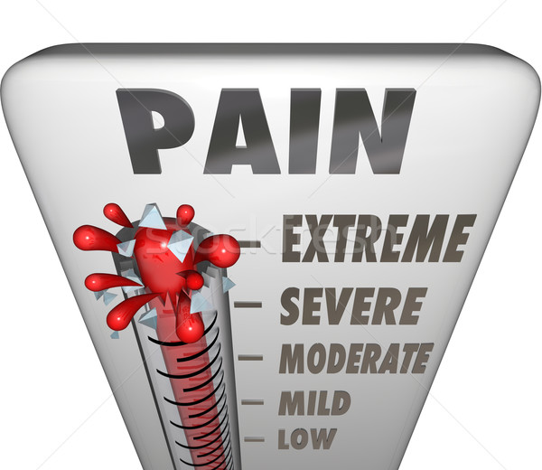 Max Pain Level Thermometer Painful Diagnosis Treatment Stock photo © iqoncept