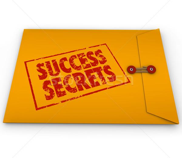 успех Секреты победа информации желтый конверт Сток-фото © iqoncept