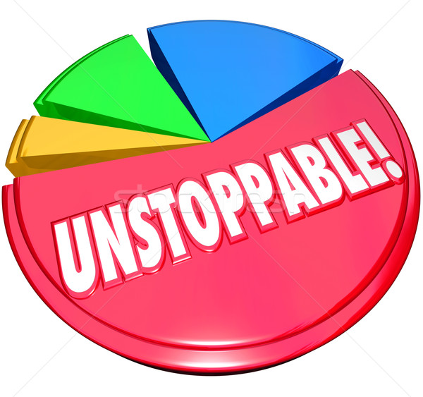 Unstoppable Pie Chart Constant Growth Increased Share Stock photo © iqoncept