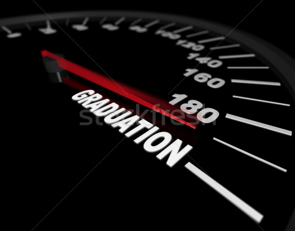 Speeding Toward Graduation - Speedometer Stock photo © iqoncept