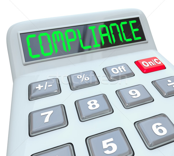 Compliance Word Calcualtor Accounting Financial Audit Stock photo © iqoncept