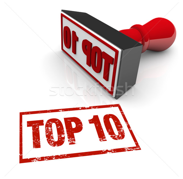 Top 10 Stamp Ten Best Approval Score Rating Review Stock photo © iqoncept
