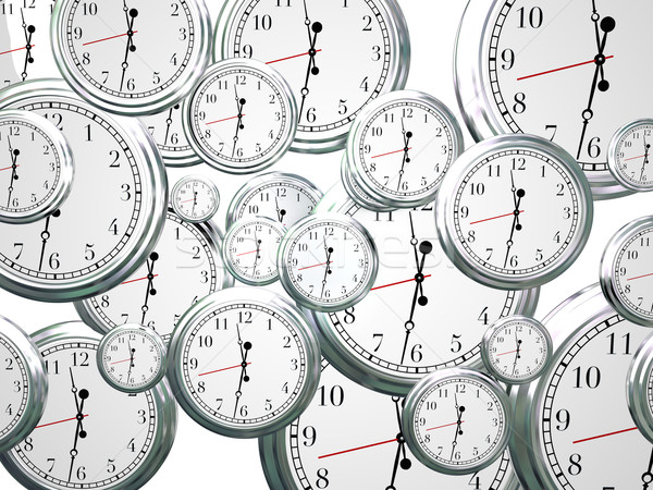 Stock photo: Clocks Time Passing Marching On Future Progress Moving Forward