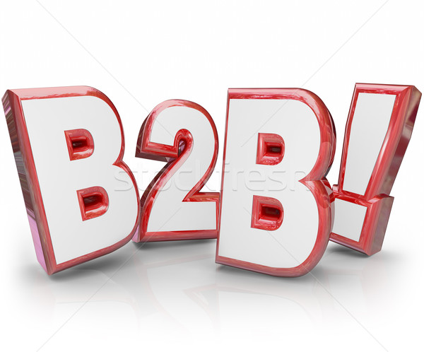 B2B Red 3D Letters Abbreviation Acronym Business Sales Stock photo © iqoncept