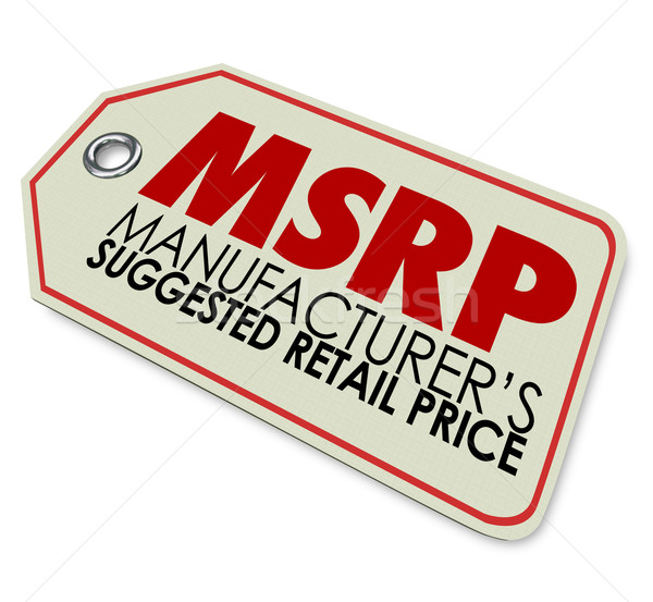 MSRP Manufacturers Suggested Retail Price Store Tag Sticker Stock photo © iqoncept
