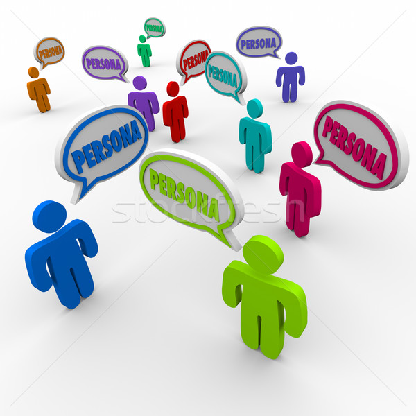 Buyer Persona Speech Bubble People Customers Profile Clients Stock photo © iqoncept
