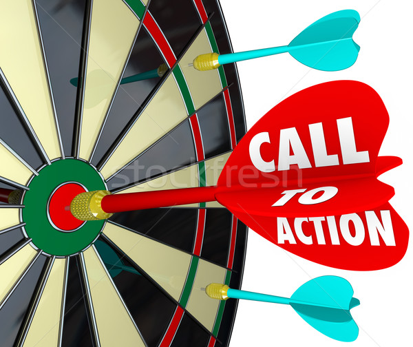 Stock photo: Call to Action Dart Board Marketing Advertising Direct Response