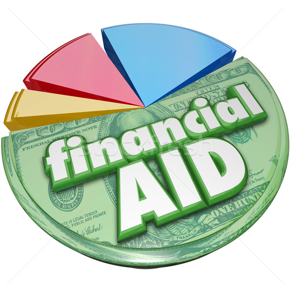 Financial Aid Money Support Help Assistance Pie Chart Stock photo © iqoncept
