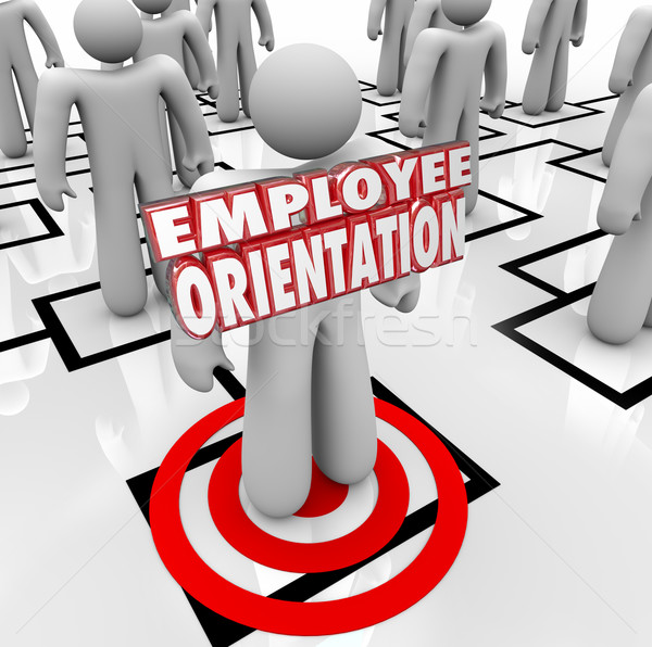 Employee Orientation Words New Worker Organization Chart Stock photo © iqoncept