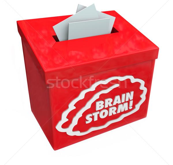 ötletelés kreatív ötlet javaslat gyűjtemény doboz Stock fotó © iqoncept