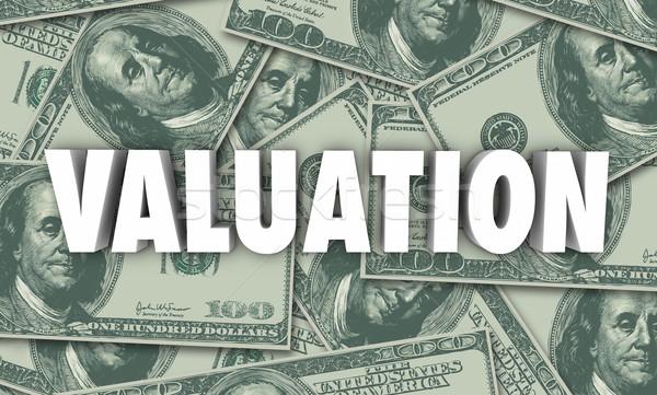 értékelés pénz cég üzlet érték szó Stock fotó © iqoncept