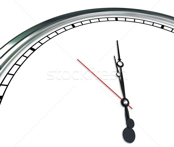 White Clock Face Ornate Hands Blank Copy Space Time for Your Mes Stock photo © iqoncept