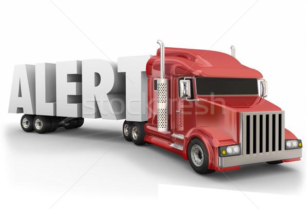 Alerta palabra camión conductor permanecer despierto Foto stock © iqoncept