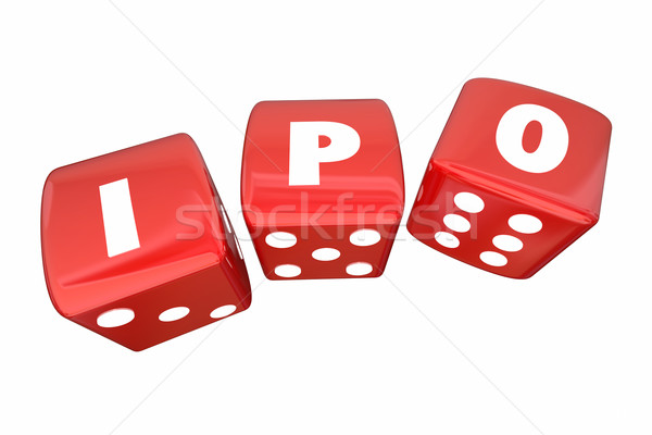 IPO Initial Public Offering Stock Sale Roll Dice Letters 3d Illu Stock photo © iqoncept