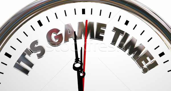 Its Game Time Clock Start Begin Playing Competition 3d Illustrat Stock photo © iqoncept