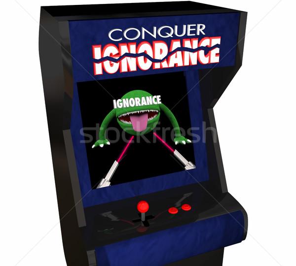 Bater ignorância derrota consciência jogo vídeo 3D Foto stock © iqoncept