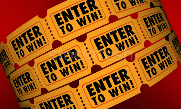 Enter to Win Tickets Contest Raffle Drawing Lottery Chance 3d Il Stock photo © iqoncept