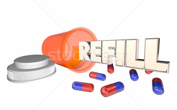 処方薬 ピル ボトル を実行して 外に 3D ストックフォト © iqoncept