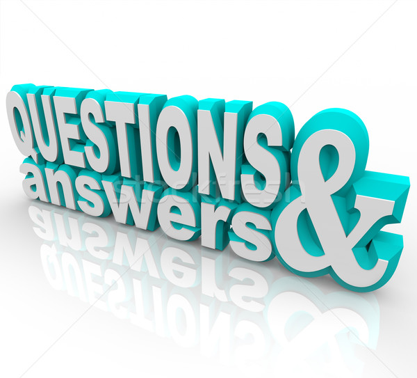 Questions and Answers  Stock photo © iqoncept