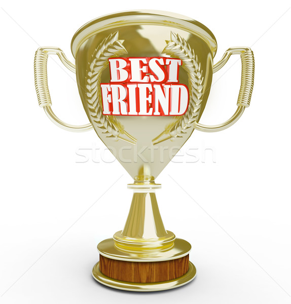 Best Friend Trophy for Great Companion in Life Stock photo © iqoncept