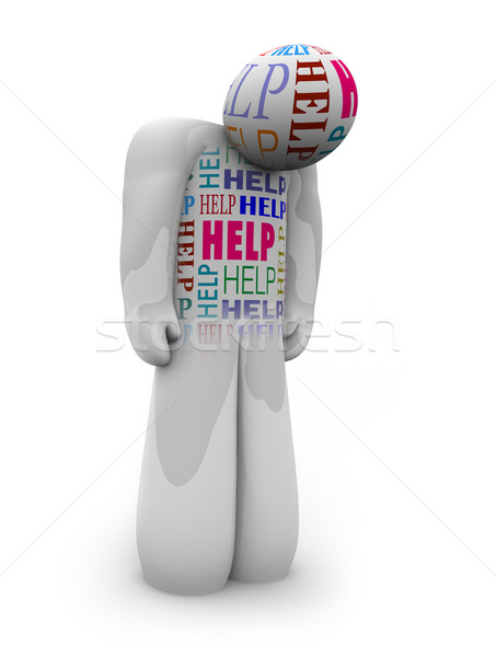 Help - One Person is Alone and Depressed in Need of Care Stock photo © iqoncept