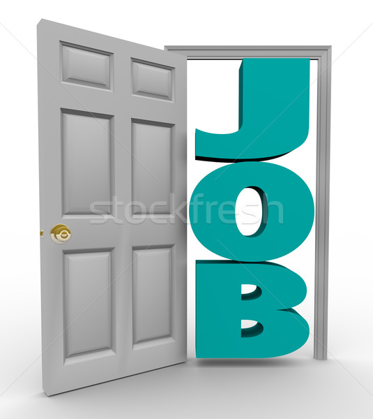 Door Opens to Word Job - Getting Hired Stock photo © iqoncept