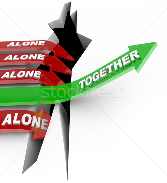 Working Together Beats Alone - Strength in Numbers Stock photo © iqoncept