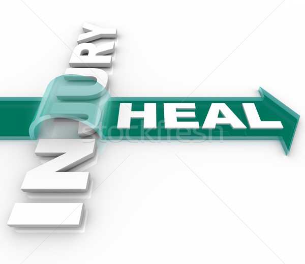 Heal After an Injury Arrow Over Word Recuperation Stock photo © iqoncept