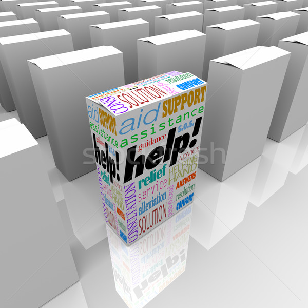 Help Box of Customer Assistance and Support on Store Shelf Stock photo © iqoncept