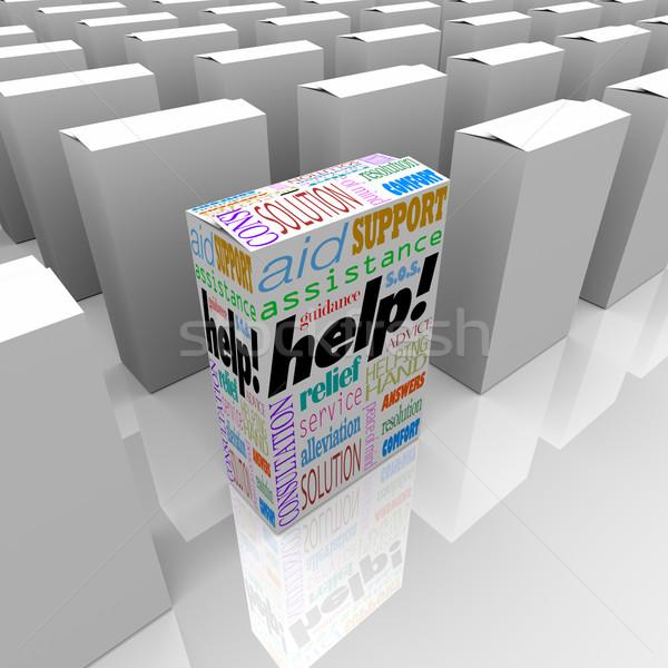 Stock fotó: Segítség · doboz · vásárló · támogatás · támogatás · bolt