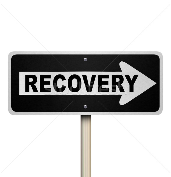 Recovery Arrow Sign One Way Pointing to Get Better Improvement Stock photo © iqoncept